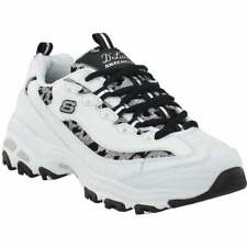 Skechers D'Lites Fancy Leopard Training Shoes  Casual Training  Shoes White