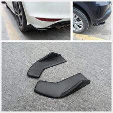 2 Pcs Car Front/Rear Bumper Spoiler Rear Lip Wrap Angle Shovel Scratch Resistant