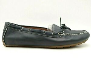 Abeo Marilee Navy Blue Leather Casual Slip On Driving Loafers Shoes Women's 10 N