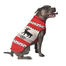 Red Reindeer Shawl Knit Dog Sweater Chilly Dog Hand Knit Wool  XXS-XXXL Puppy