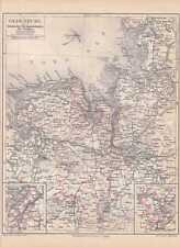 Großherzogtum Oldenburg Juist Baltrum LANDKARTE von 1888 Elbmündung Jadebusen