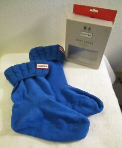 NIB Hunter Original Short Cable Knit Boot Socks L (M 7-9/W 8-10) Bucket Blue $40