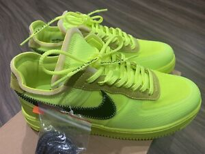 NEW Off-White x Air Force 1 Low 'Volt' Size 10
