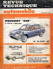 RTA revue technique automobile n° 466 PEUGEOT 309 gl gr profil
