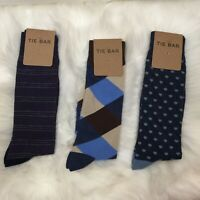 The Tie Bar Lot Of 3 Pairs Of Socks Mixed Patttens Men's Sock Size 10-13