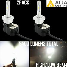 Alla Lighting LED D2S Headlight High|Low Beam Light Bulb Wring Ballast Bypass 2x