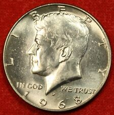 1968-D KENNEDY HALF DOLLAR BU 40% SILVER COIN CHECK OUT STORE KH88