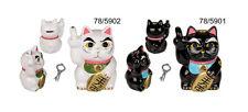 Tirelire avec Serrure, Angry Cat Chat en Colère15 cm en Céramique Blanche / Noir