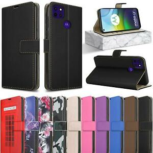 For Motorola Moto G9 Power Case XT2091 Magnetic Leather Wallet Stand Phone Cover