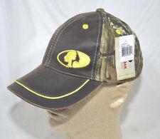Mossy Oak  Camo &  Brown Brim Logo Baseball Cap Hat  NEW
