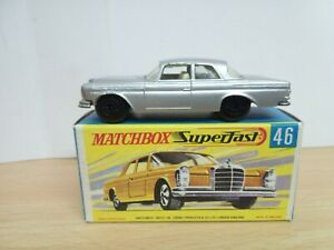 P338-MATCHBOX SUPERFAST MB46-A MERCEDES 300 SE AND BOX.SILVER GREY BODY