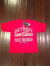 Detroit Red Wings NEW Youth Small Cleric T-Shirt by Old Time Hockey . NHL Kids