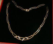 750 GOLD Collier Kette Diamanten Brillanten 0,64 ct. 18 K Gelbgold Halskette 39g