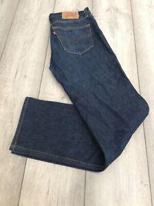 """LEVI 501 JEANS 32"""" WAIST X 32"""" LEG BLUE"""
