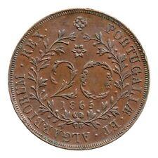 More details for km# 15 - 20 reis - luiz i - azores (portugal) 1865 (vf)