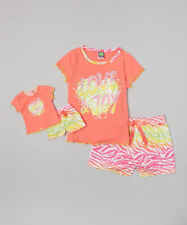 """$35 DOLLIE & ME CORAL LOVE & JOY' PAJAMA SET & 18"""" DOLL OUTFIT AMERICAN GIRL 4"""