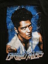 Bruno Mars Concert T Shirt Jungle Tour Rendez-Vous Villes 2-Sided LN Adulte S
