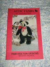 "Pam Holton Designs 5"" Jointed Panda Bear Making Pattern New Uncut"
