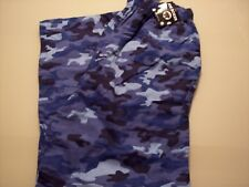 Mens Blue Camo Pants XL Joe Boxer Flannel Sleep Lounge Pajama New