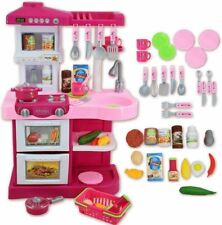 Kids Play Kitchen Children's Kitchen Cooking Toy Cooker Play Set Sounds UK