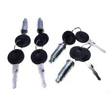 4Pcs Door Lock Cylinder Barrel & Key 701837205 For VW EuroVan TRANSPORTER MK4 T4