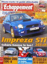 Echappement n°413-2002-SUBARU IMPREZA-HONDA CIVIC-NORMA AUTO CONCEPT-MITSUBISHI
