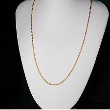 Gold Chain Men Womens 22in 18ct Goldplated Necklace 2mm thick Curb Chain  A1