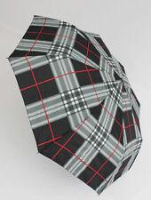 Happy Rain karierter Automatik Regenschirm für Damen und Herren rot 46859