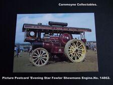 Picture Postcard 'Evening Star' Fowler Showmans Engine. No. 14862.AH9238.