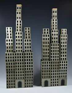 Vintage Skyscraper Toy Architectural Building Blocks Art Deco Modernism 1930