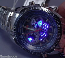 BLUE LED CHRONO WATCH - SUPERB LOOKING TIMEPIECE - PRICE SLASHED - SAVE$$$ - WOW