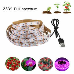 DC5V LED Grow Light Full Spectrum USB LED Strip Light 2835 LED For Plant Growing