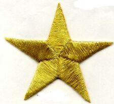 "STAR-GOLD  5/8"" IRON ON APPLIQUE  2 appliques"