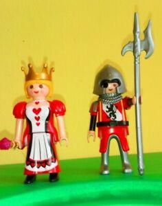 PLAYMOBIL,REINA DE CORAZONES Y SOLDADO ,caballeros,oeste,romanos,piratas
