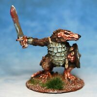 Ratman with sword shield Skaven Warhammer Fantasy Armies 28mm Unpainted Wargames