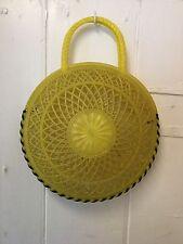 Années 1950 vintage en plastique jaune sac à main
