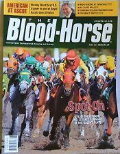 BLOOD HORSE MAGAZINE 6/27/2009 SPOT ON AMERICAN AT ASCOT