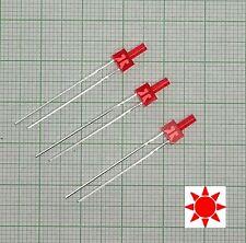 10 Stück Blink Led 2mm rot diffus (Blinklicht, flash)+ Widerstand - E143f