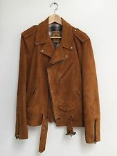 Schott Perfecto Camel Suede Leather Jacket Size Medium NWT