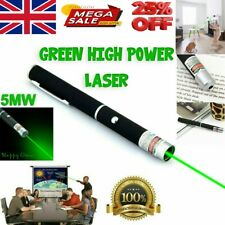 More details for powerful green light laser lazer pointer pen strong 900 mile professional beam