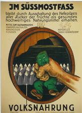 Original Plakat - Süssmostfass - Volksnahrung