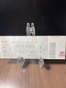 HOUSTON ROCKETS VS LOS ANGELES LAKERS FULL UNUSED TICKET FEB 11 2004