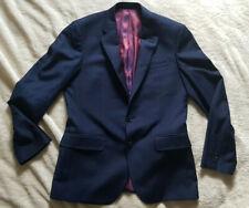 T.M.Lewin - Navy blue wool suit jacket - Dunkelblaue Anzugjacke / Size: suits M