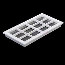 1:12 Scale Dollhouse Miniature Wooden 12-pane Window Frame White