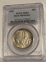 1925 Stone Mountain Commemorative Half Dollar MS 63 PCGS
