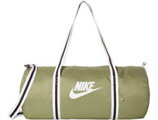 Nike Vintage Heritage Gym Duffle Bag Travel Sports Unisex Olive White BA6147 310