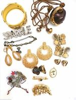 Vintage Jewelry Lot Ellen Designs Cadoro Earrings Trifari Cloisonné 18 Pc & Prs