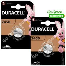 2 x Duracell CR2450 3V Lithium Coin Cell Battery 2450 DL2450 K2450L, long exp.