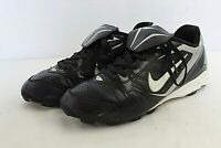 Nike Boy Athletic Baseball Cleats Size 6 Youth Black/White Leather Upper Sports