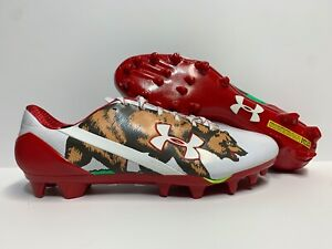 Under Armour Spotlight California Football Cleats White Red [1275481-130]